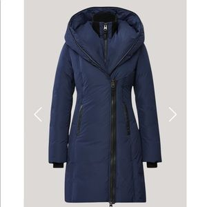 Down coat with Signature Mackage Collar